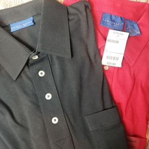 Towncraft M 2 polos NWT Red & Blk